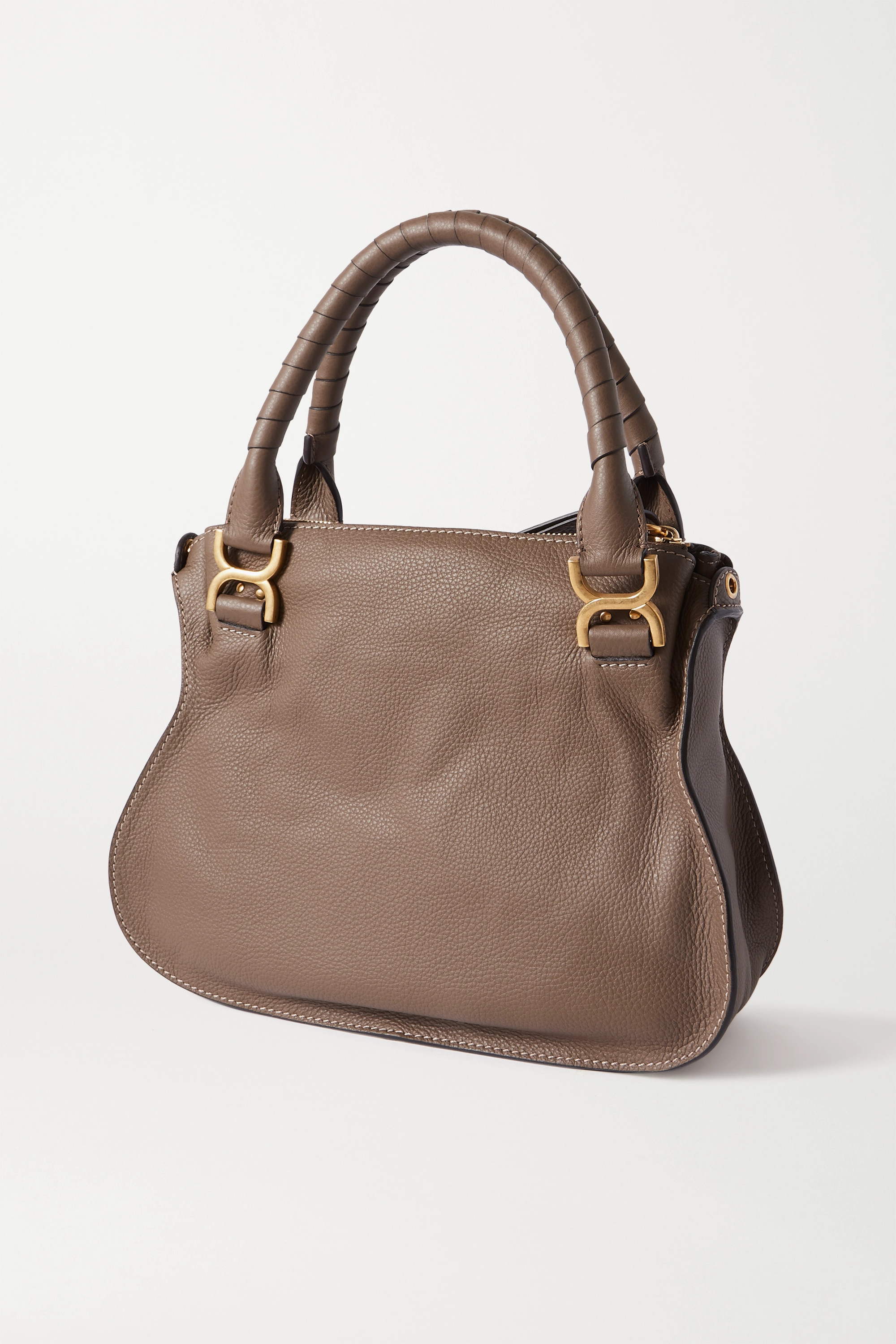 CHLOÉ Marcie medium textured-leather tote