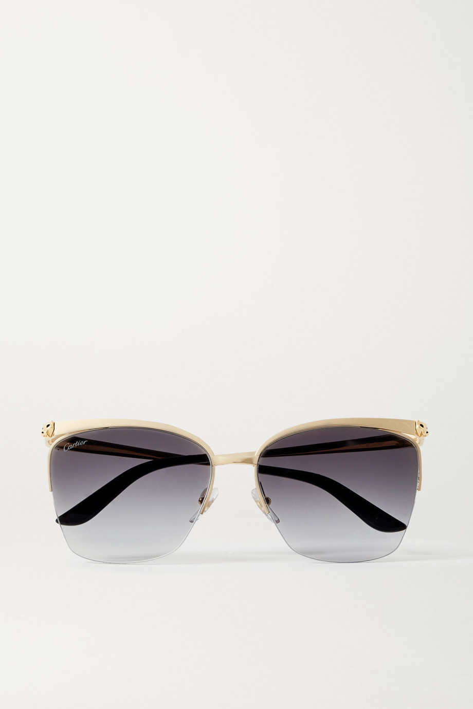 CARTIER EYEWEAR Cat-eye gold-tone sunglasses