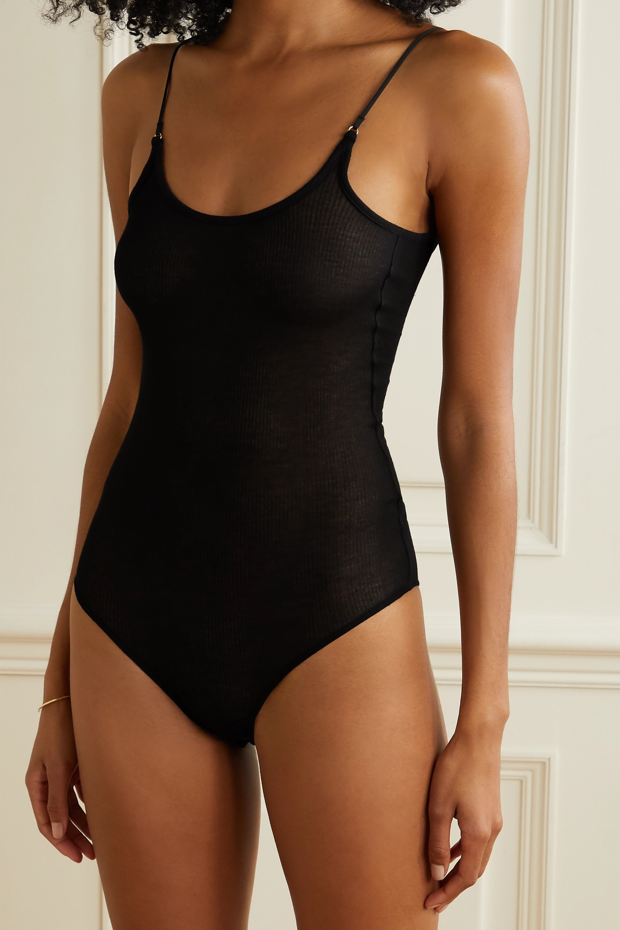 ANINE BING Lana ribbed-knit bodysuit