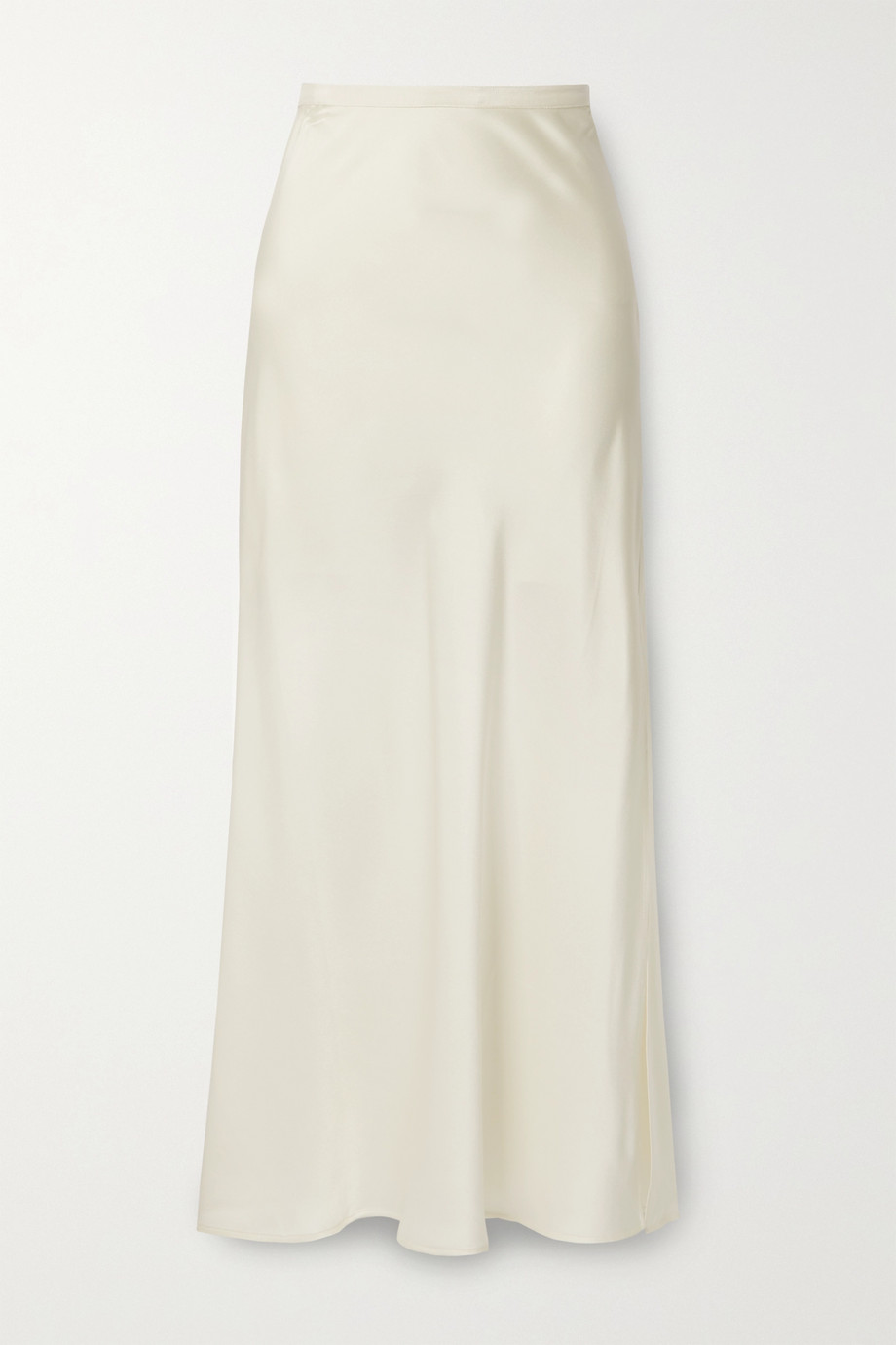 ANINE BING Noel grosgrain-trimmed silk-satin skirt