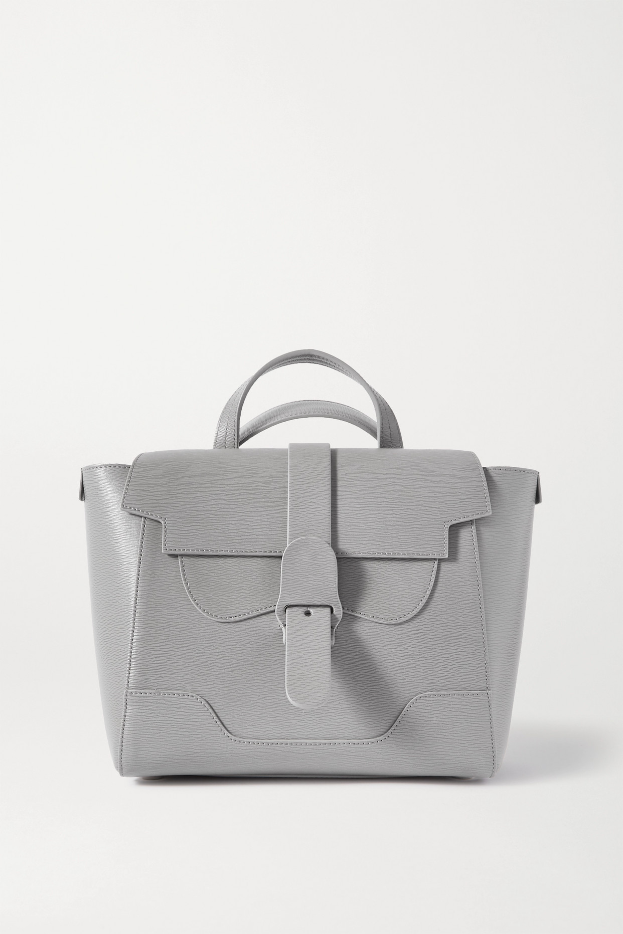 Senreve - Midi Maestra Convertible Textured-leather Shoulder Bag - Gray - one size