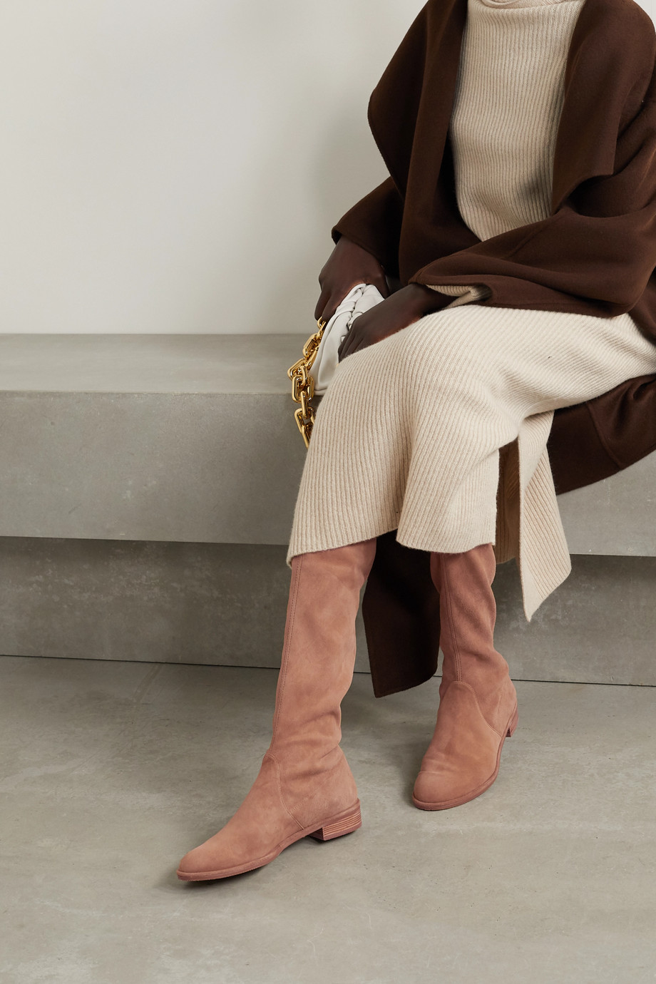 STUART WEITZMAN Lowland suede over-the-knee boots