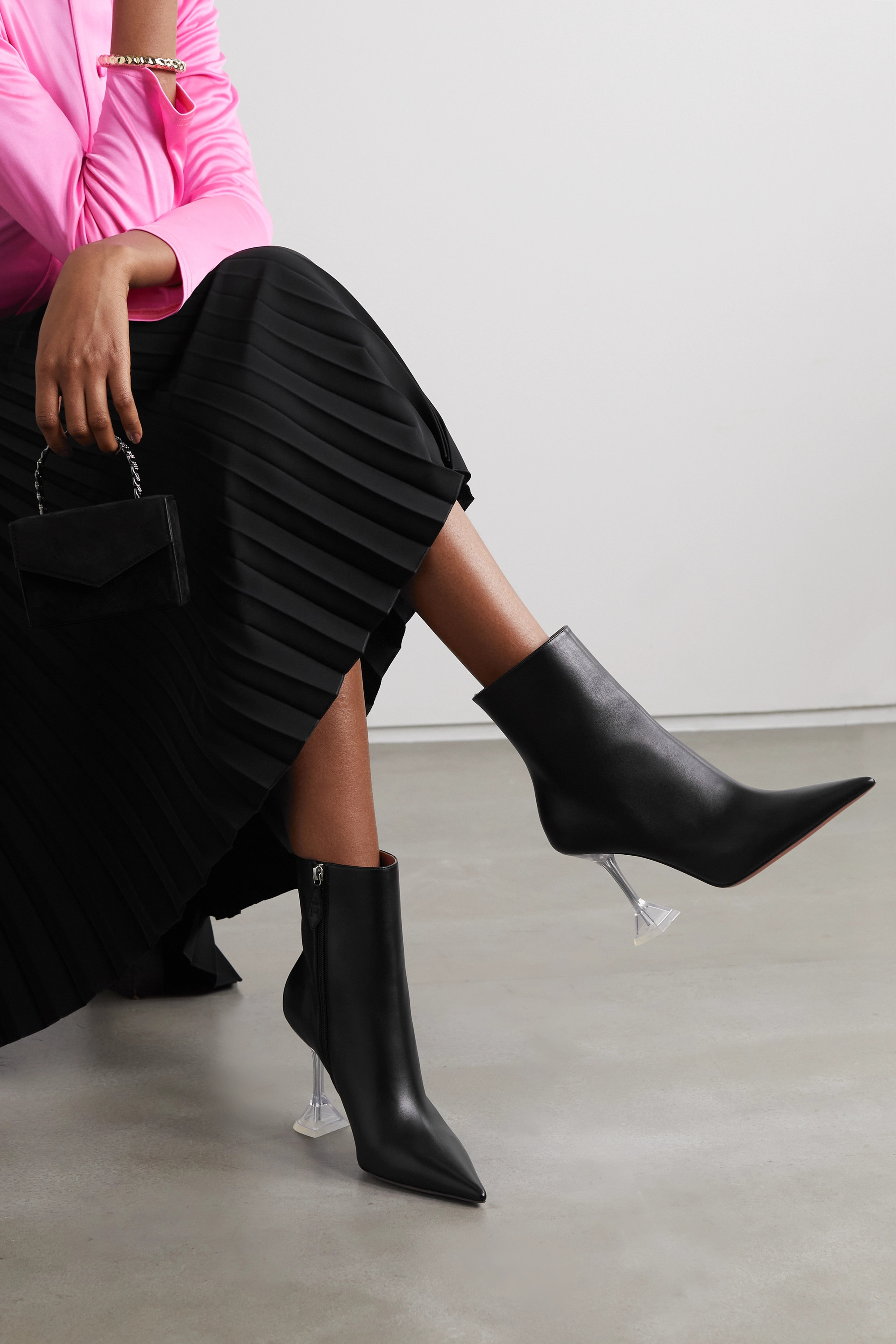 AMINA MUADDI Giorgia leather ankle boots
