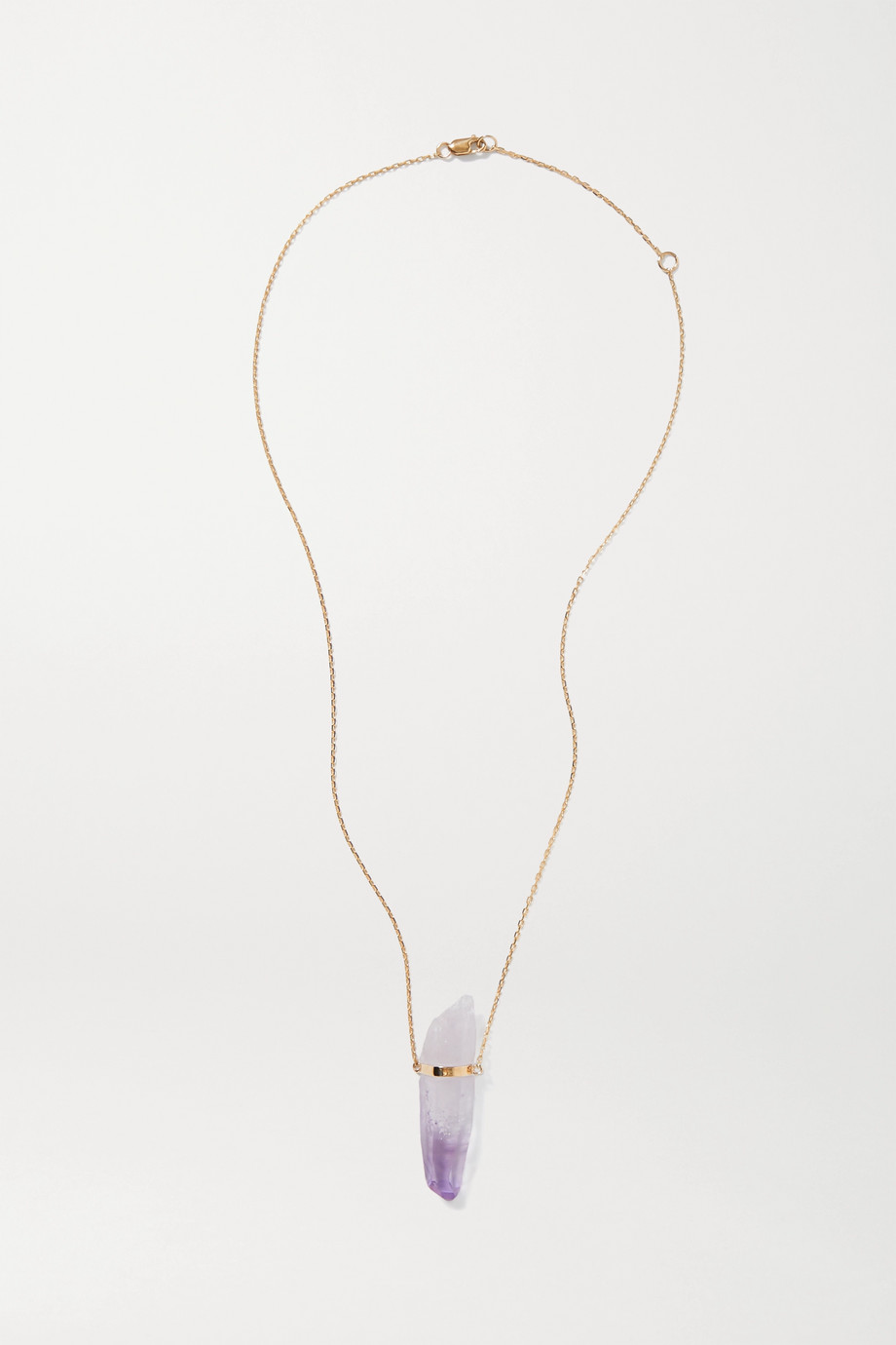 JIA JIA 14-karat gold amethyst necklace