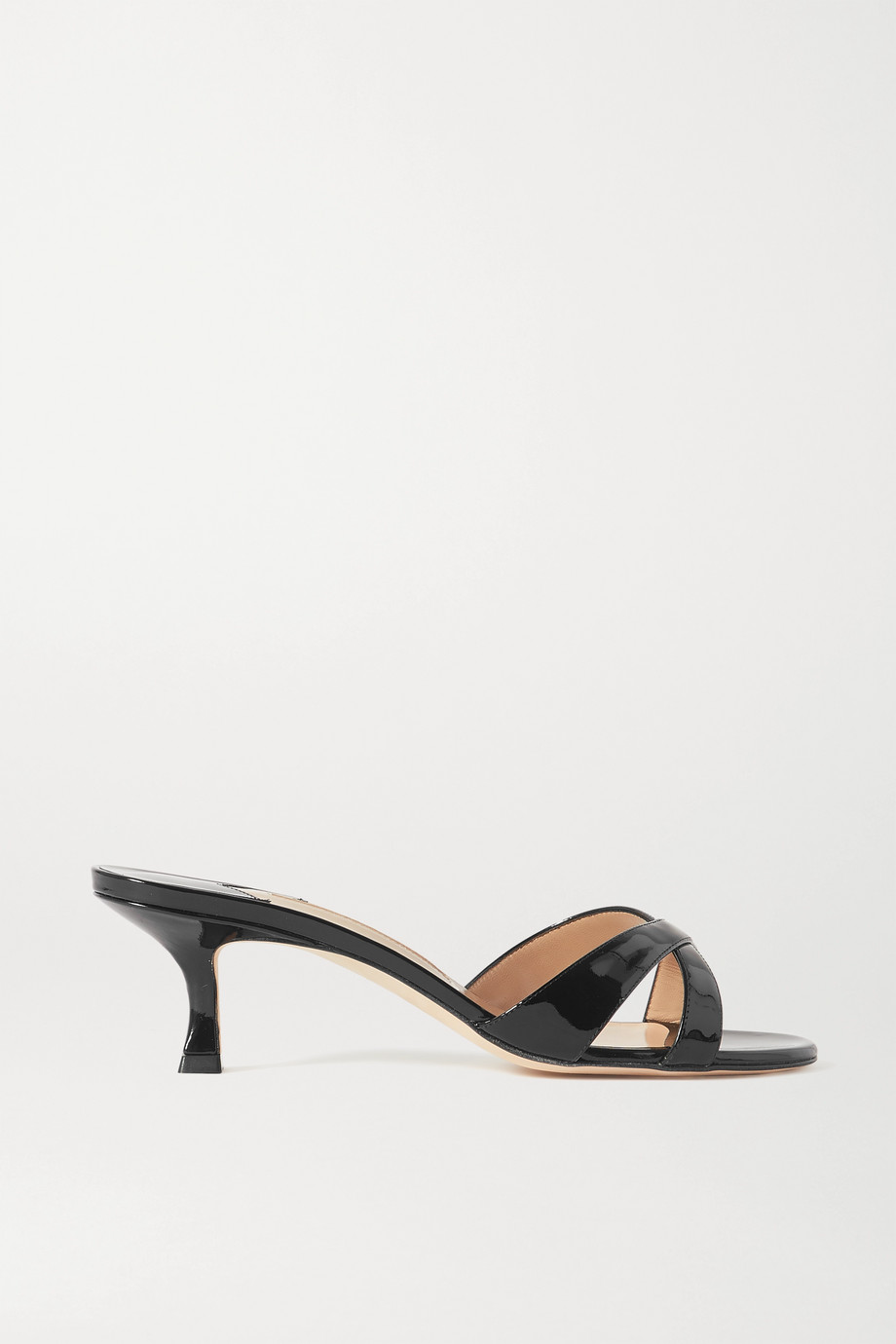 MANOLO BLAHNIK Callamu patent-leather mules