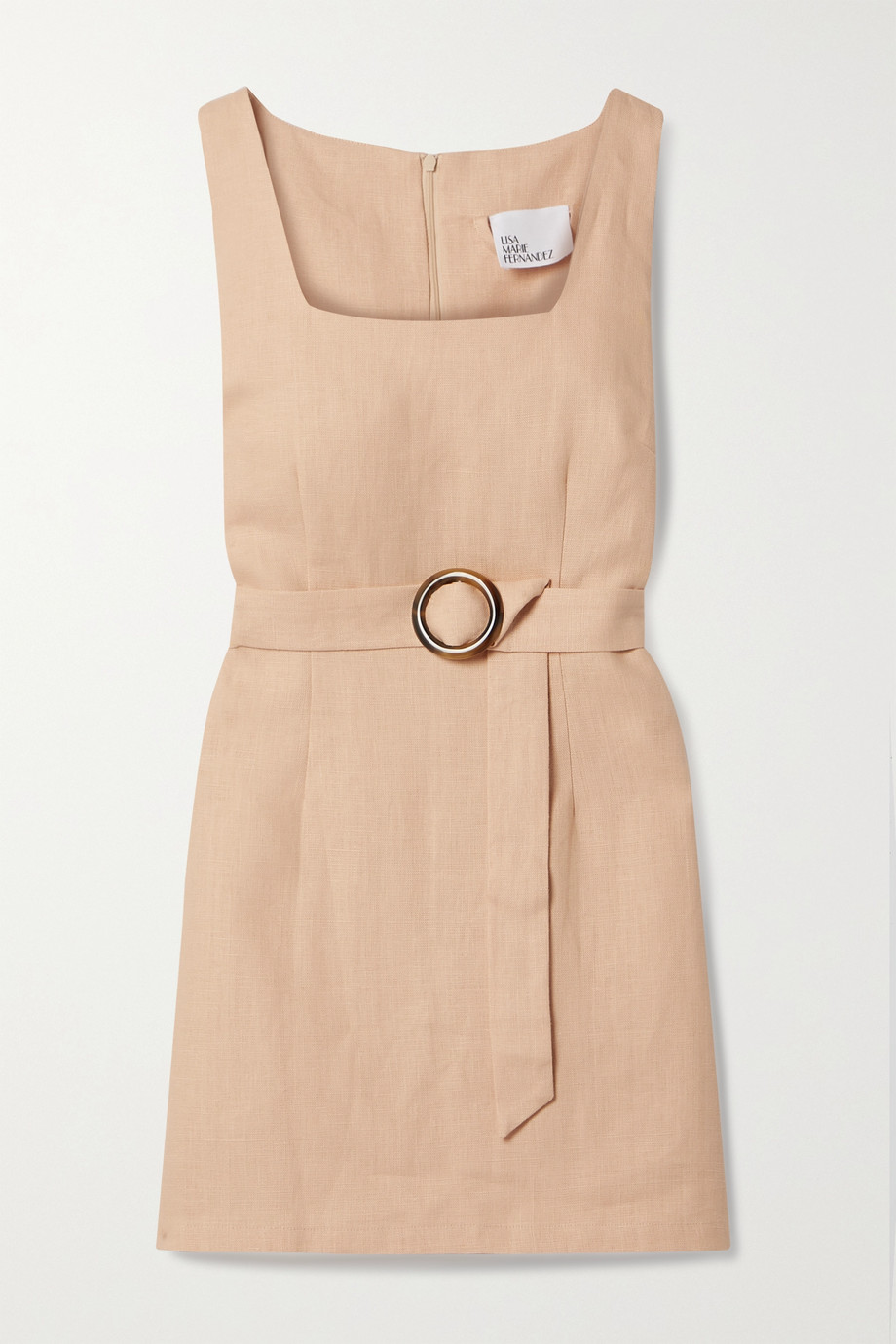 LISA MARIE FERNANDEZ + NET SUSTAIN Charlotte belted linen mini dress