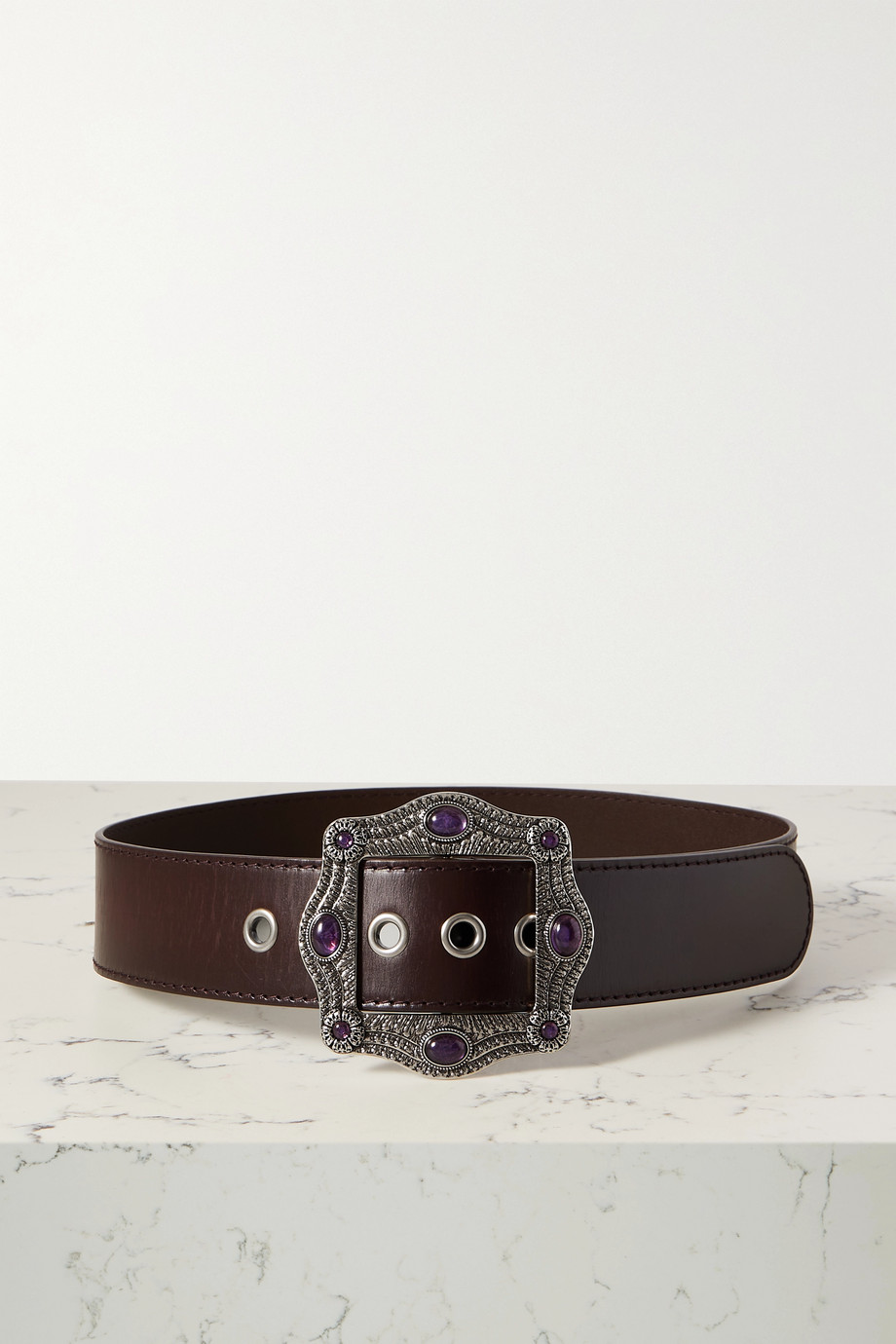 GUCCI Embellished leather belt