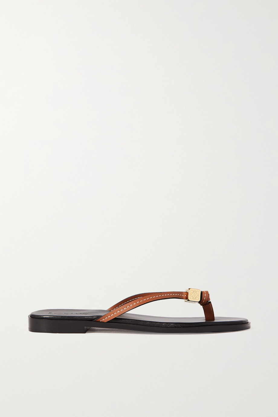 LOEWE + Paula's Ibiza Dice embellished leather flip flops