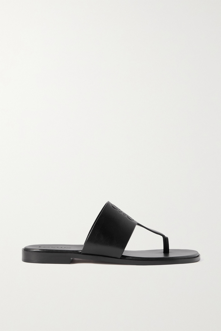 LOEWE + Paula's Ibiza logo-debossed leather sandals
