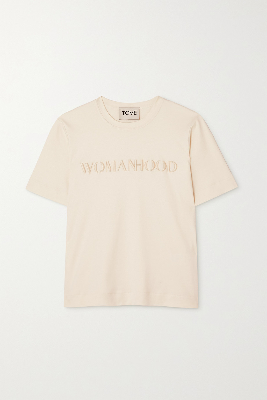 TOVE + NET SUSTAIN International Women's Day embroidered organic cotton-jersey T-shirt
