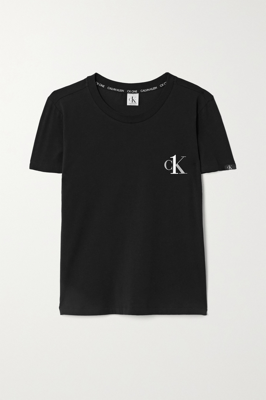 CALVIN KLEIN UNDERWEAR CK One printed stretch-cotton jersey T-shirt