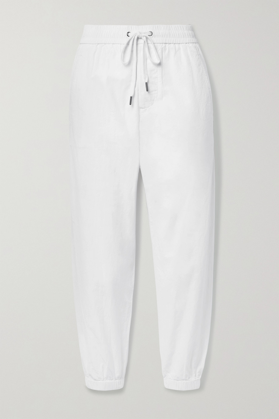 JAMES PERSE Crinkled cotton-poplin track pants