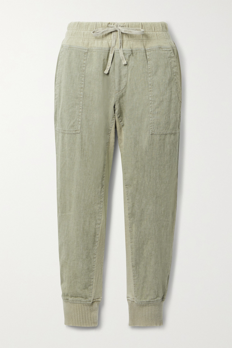 JAMES PERSE Jersey-trimmed cotton-blend track pants