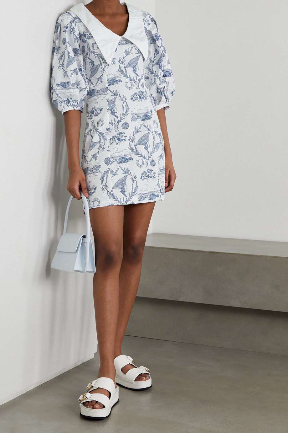 SINDISO KHUMALO + NET SUSTAIN printed cotton-poplin mini dress