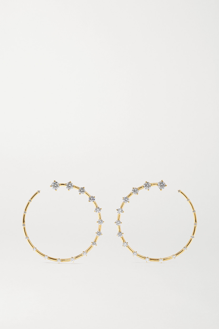 FERNANDO JORGE Circle Large 18-karat gold diamond earrings
