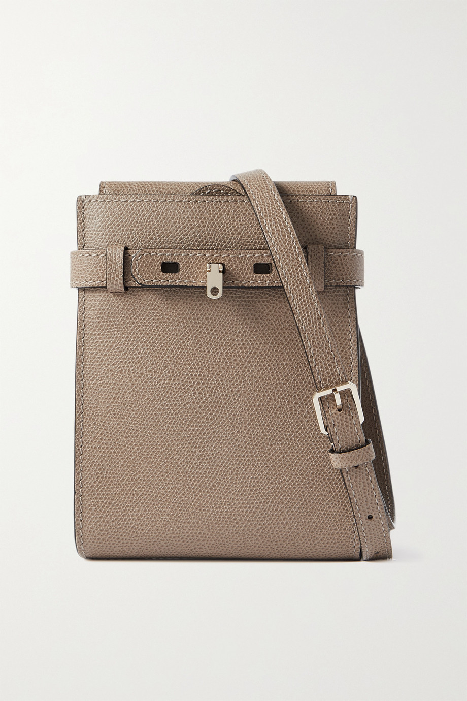 VALEXTRA Slim B-Tracollina textured-leather shoulder bag