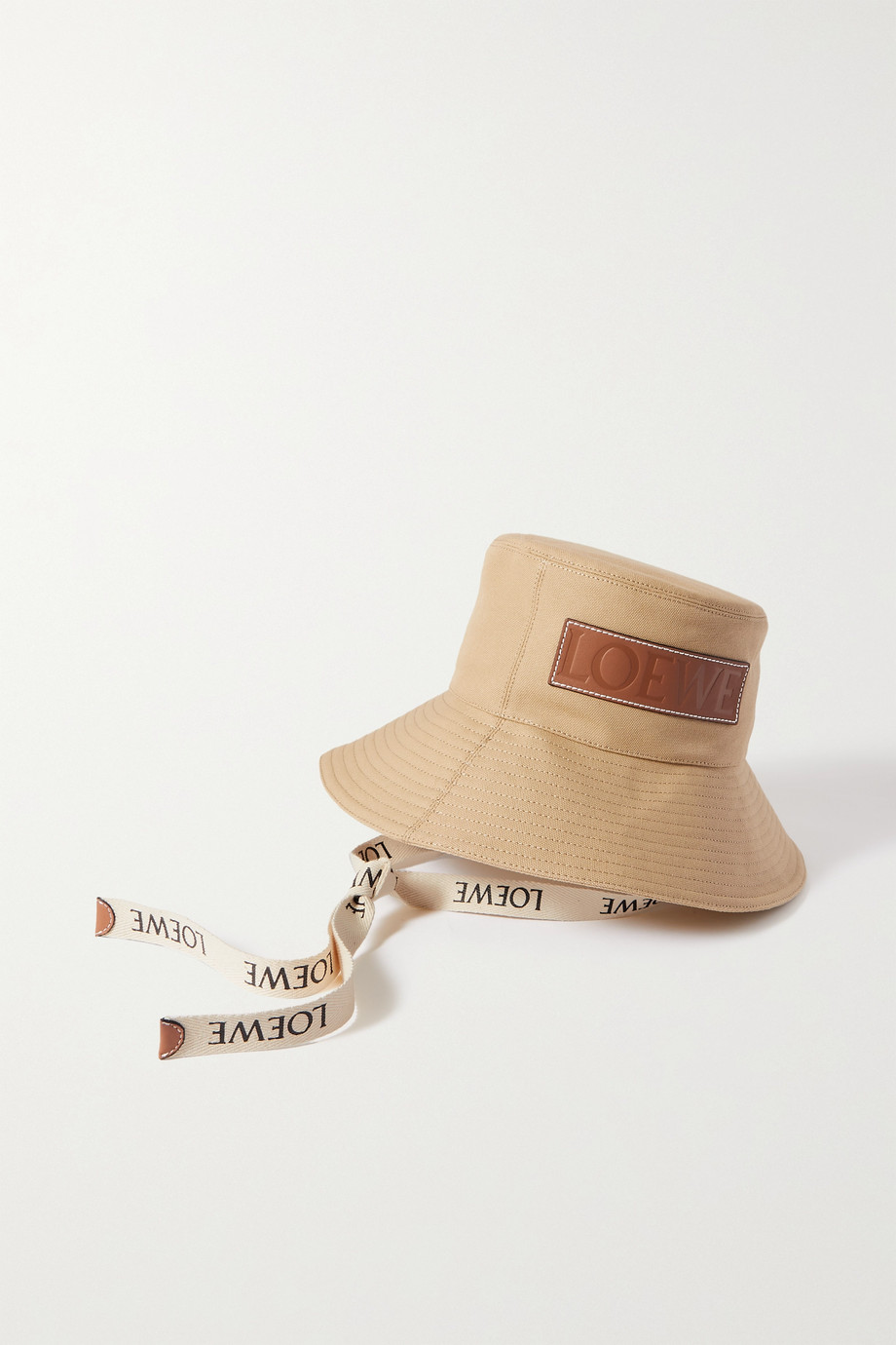 LOEWE + Paula's Ibiza leather-trimmed cotton-canvas bucket hat