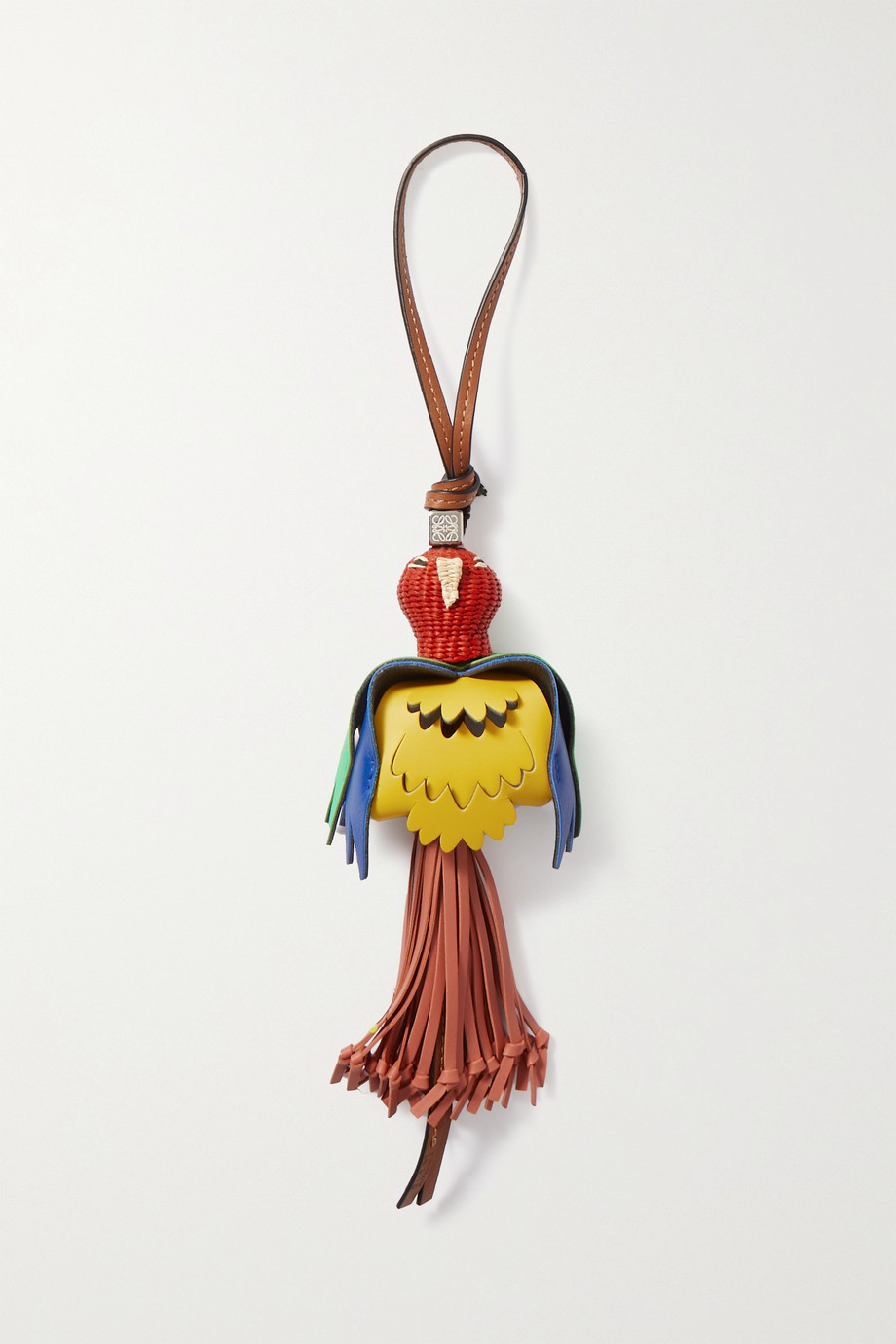 LOEWE + Paula's Ibiza raffia and leather bag charm