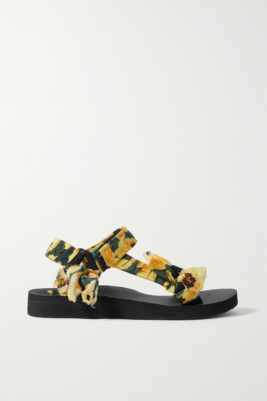 ARIZONA LOVE + Jason Wu Trekky floral-print gauze-trimmed canvas sandals