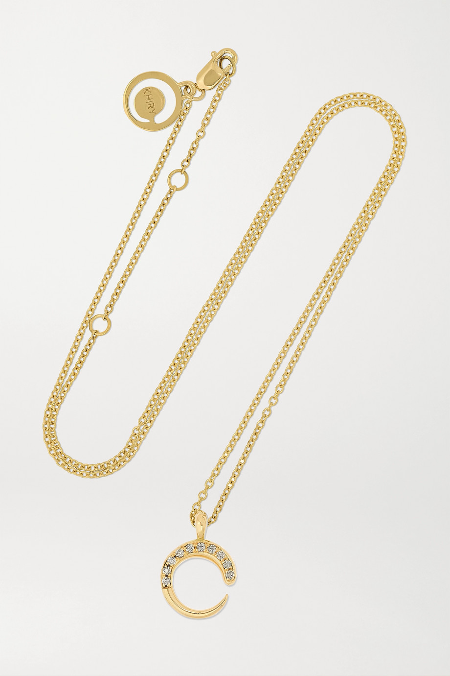 KHIRY FINE Mini Khartoum 18-karat gold diamond necklace
