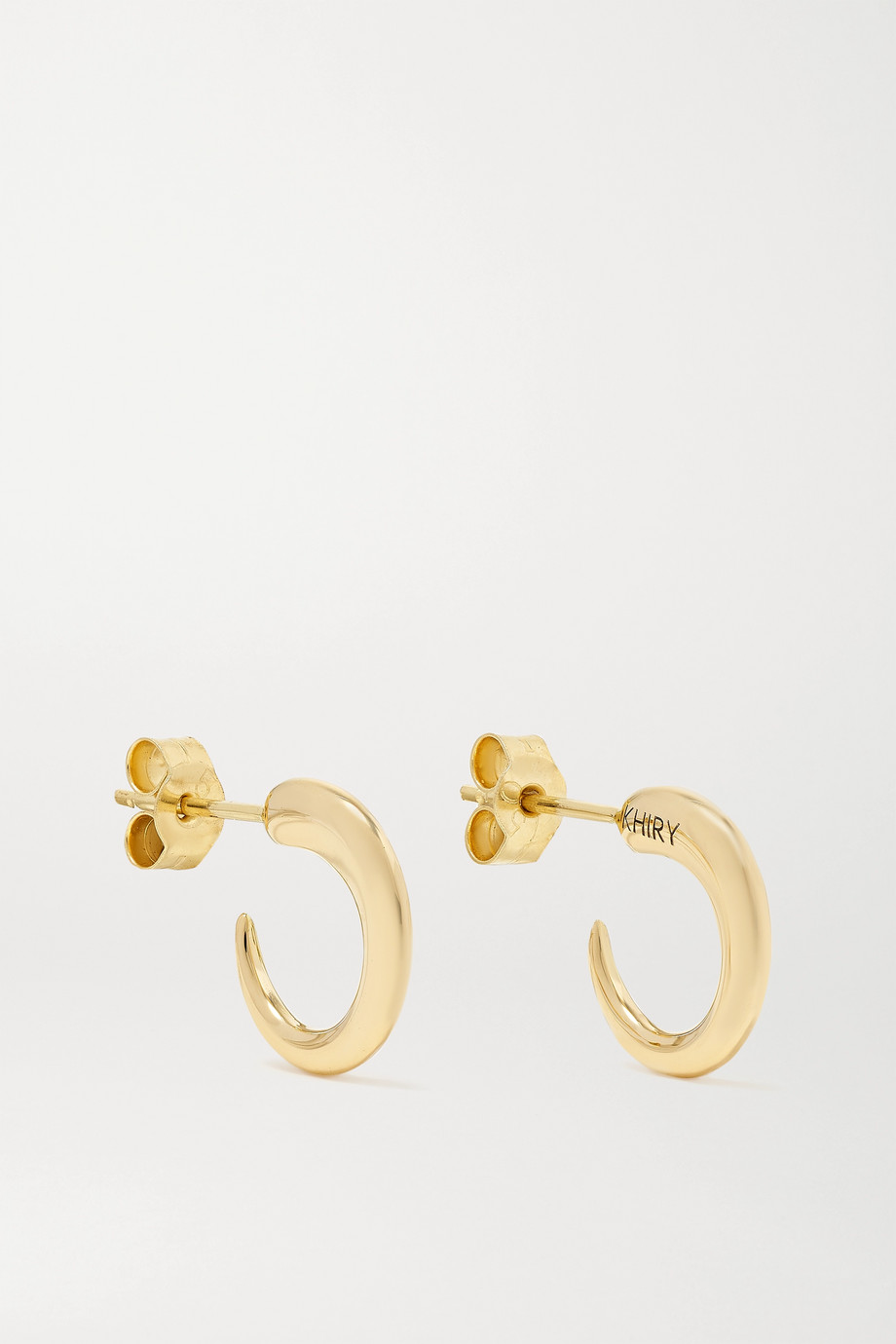 KHIRY FINE Tiny Khartoum 18-karat gold hoop earrings