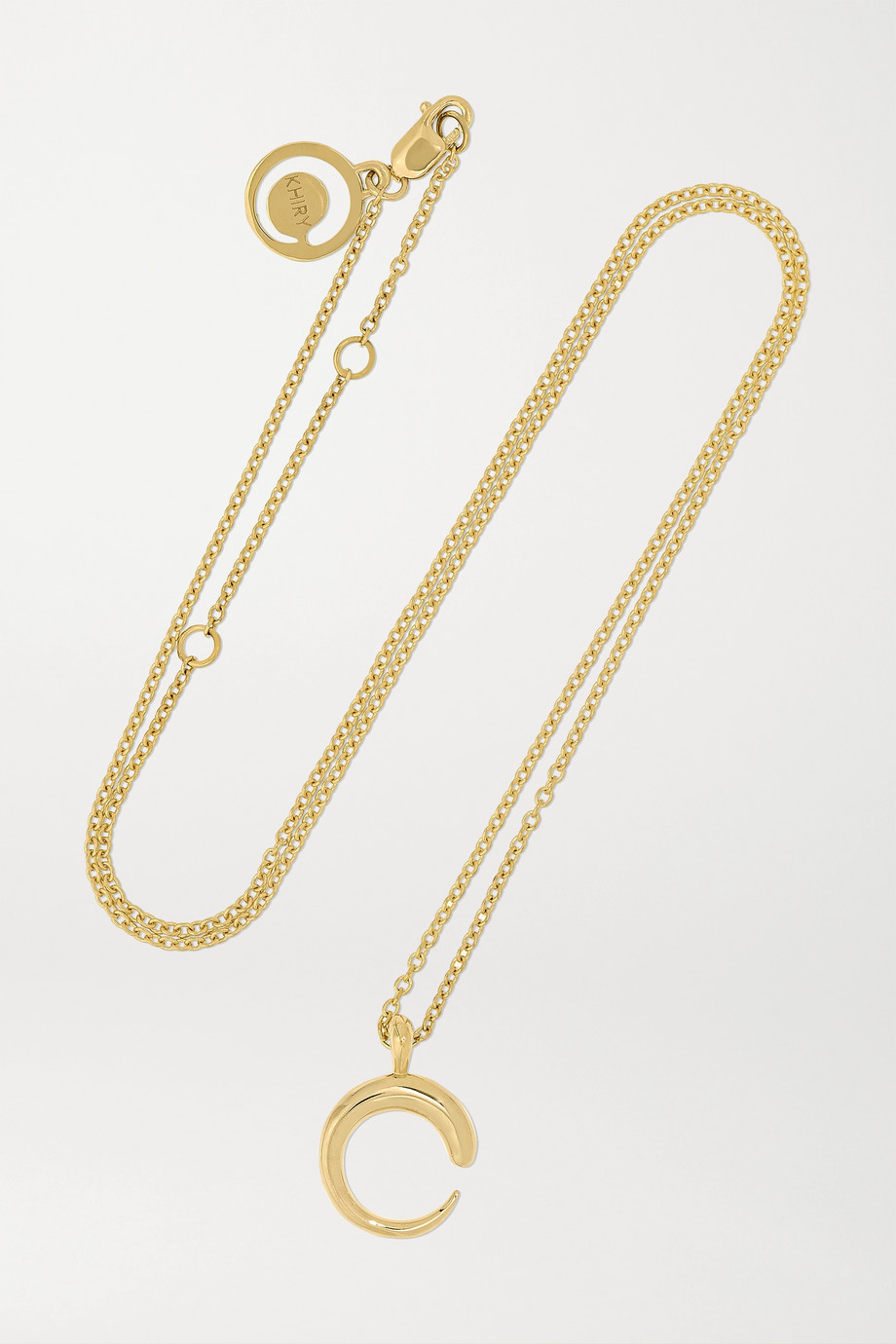 KHIRY FINE Mini Khartoum 18-karat gold necklace