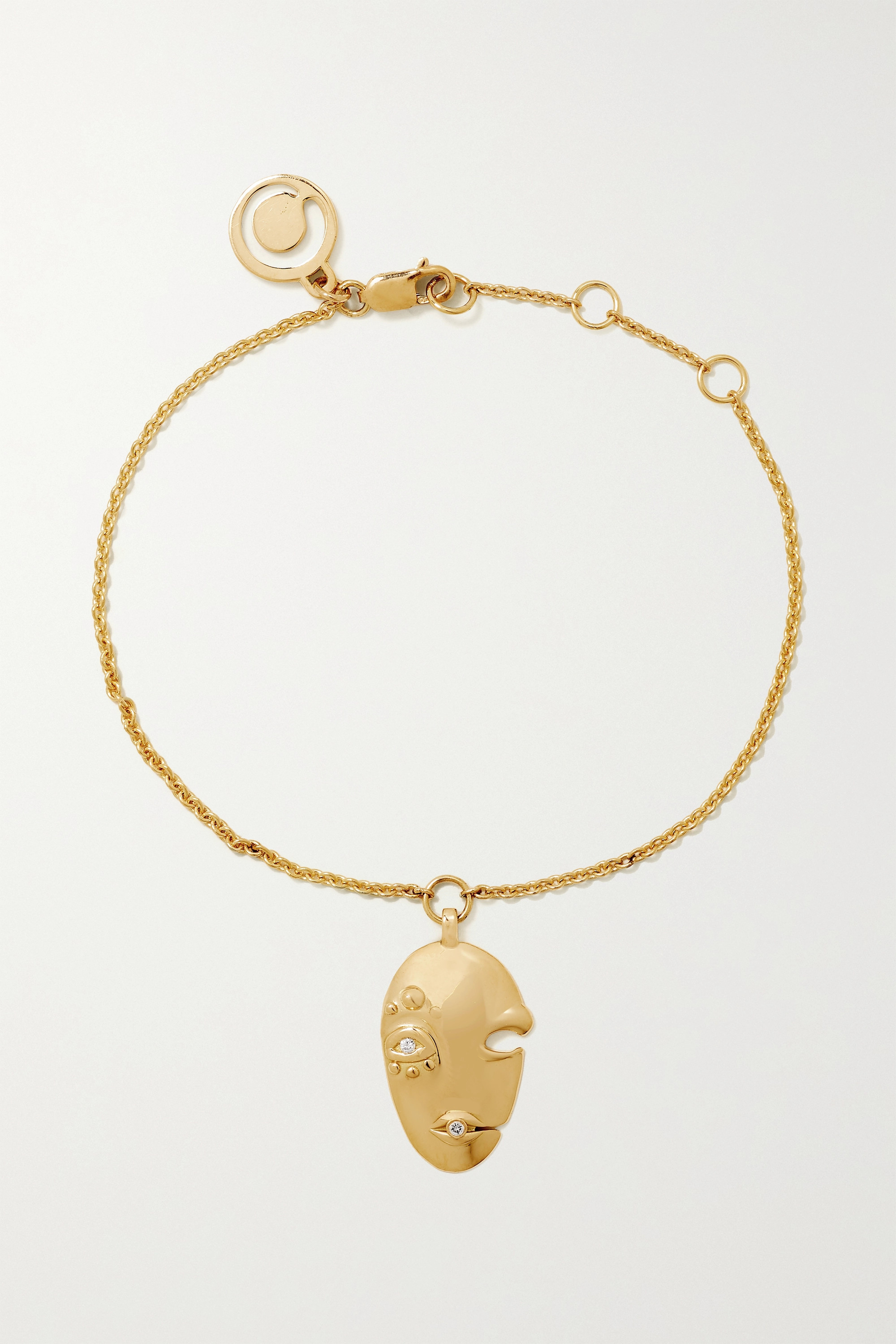 KHIRY FINE Mask 18-karat gold diamond bracelet