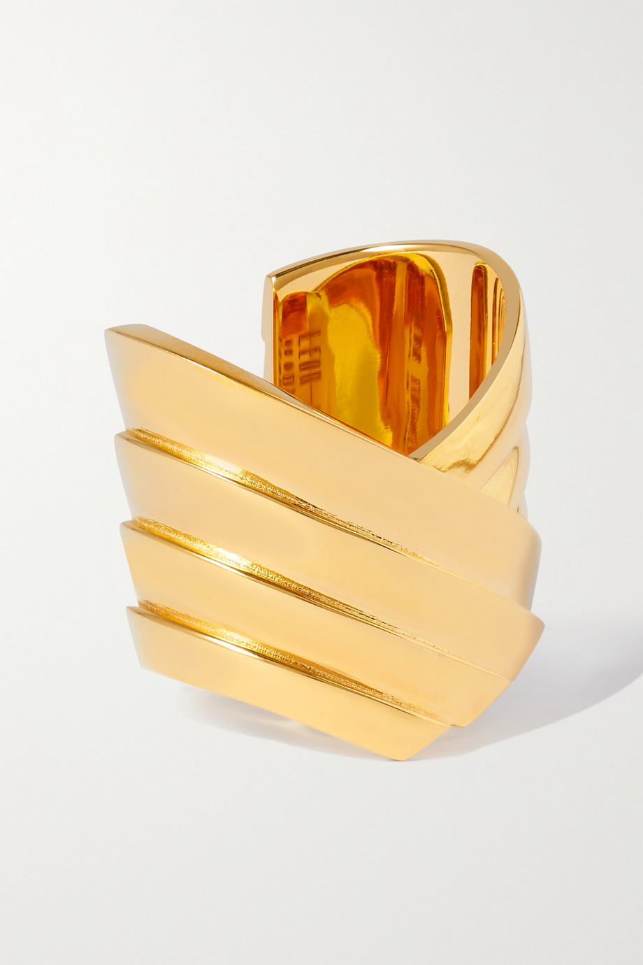 LEDA MADERA Susan gold-plated ring