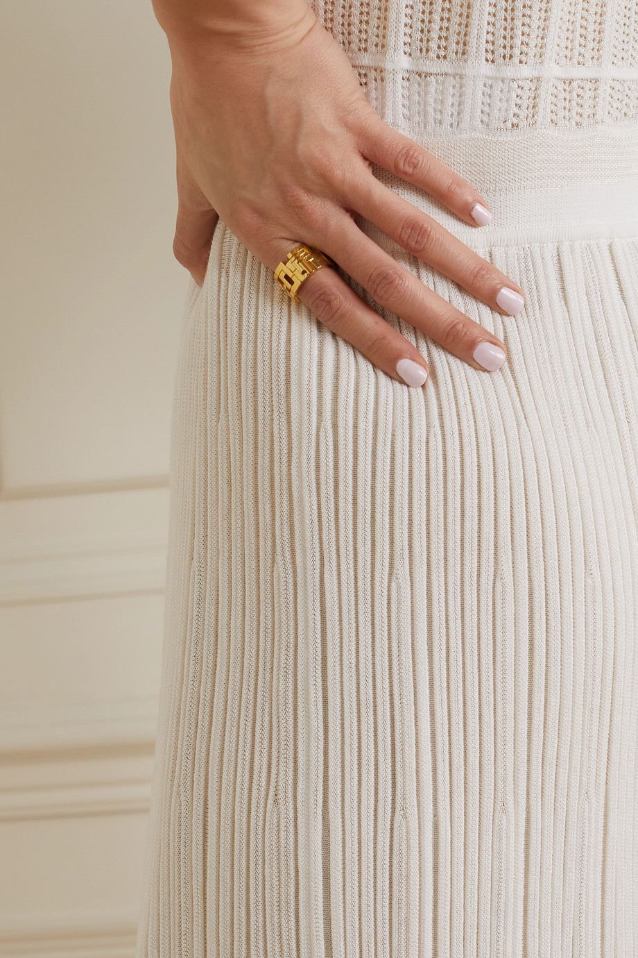 LEDA MADERA Goldie gold-plated crystal ring
