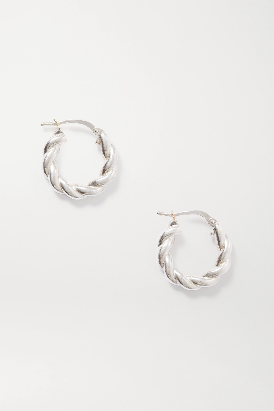 BOTTEGA VENETA Silver-tone hoop earrings