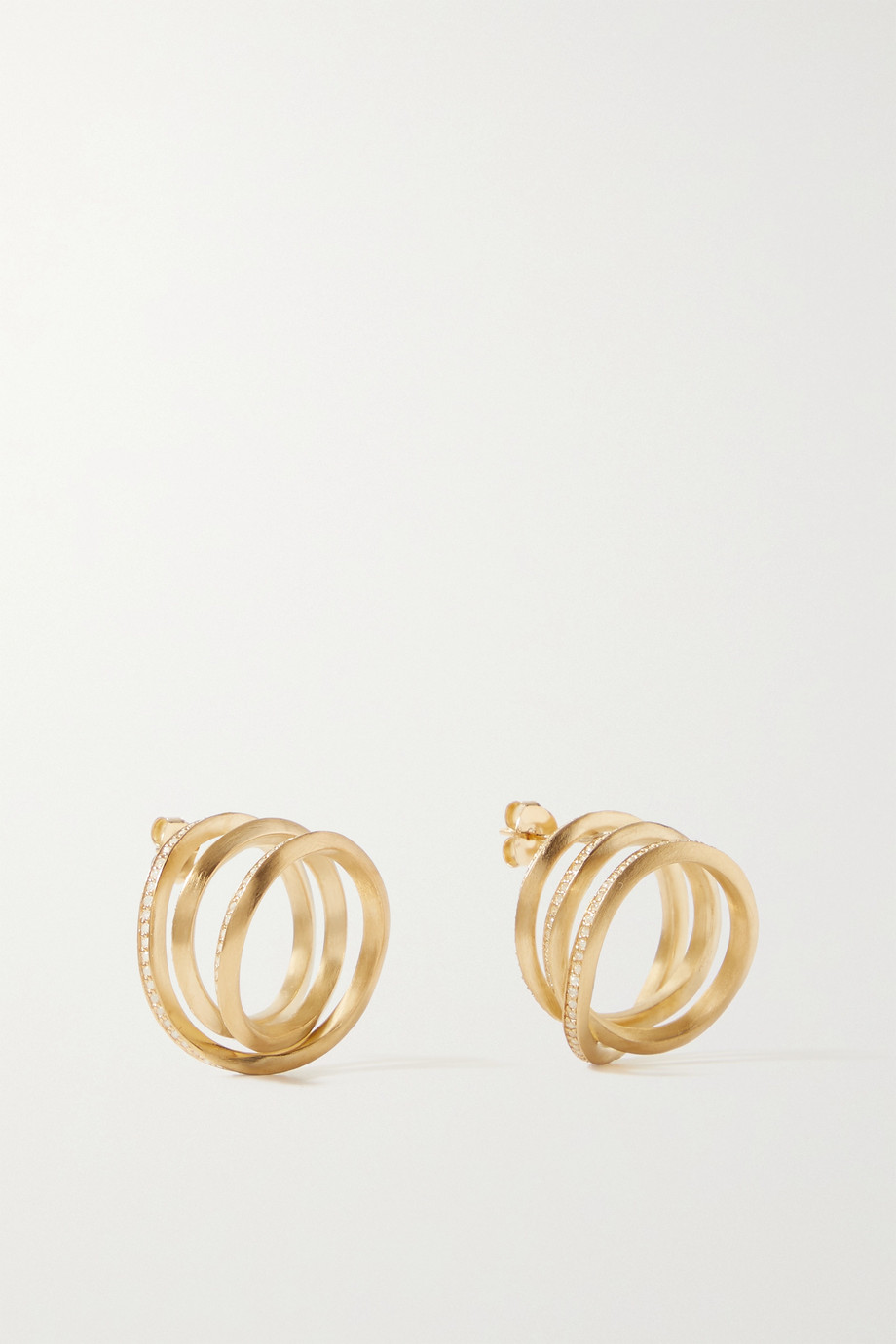 COMPLETEDWORKS The Transit of Venus gold-plated topaz earrings