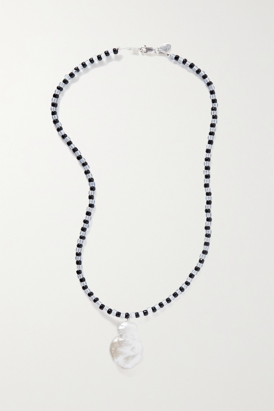 SANTANGELO Domingo silver, pearl and bead necklace