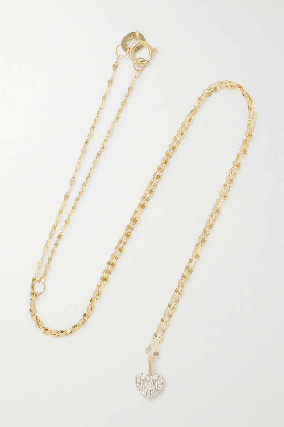 STONE AND STRAND Heart of the Matter gold diamond necklace