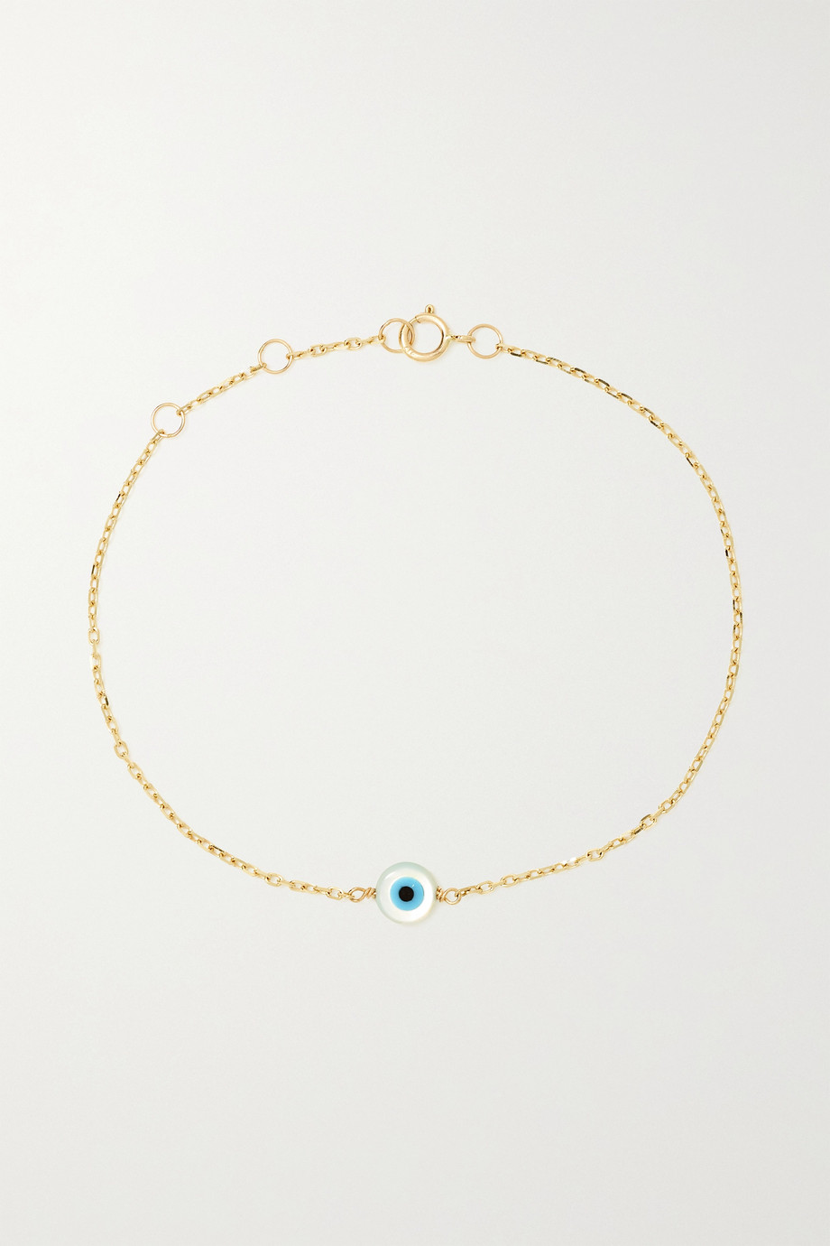 STONE AND STRAND Gold, mother-of-pearl and enamel bracelet