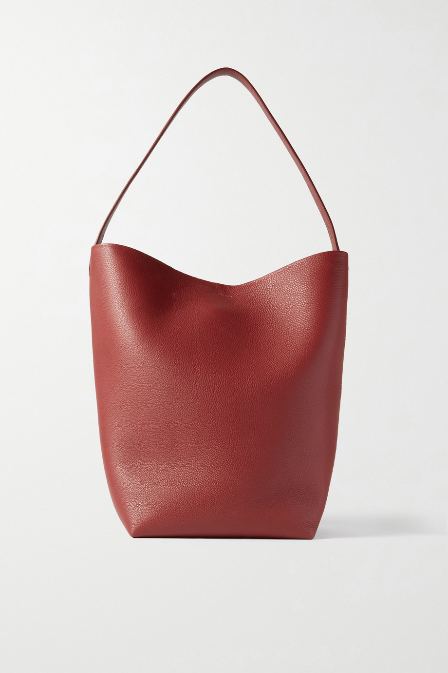 The Row N/S Park textured-leather tote,Red