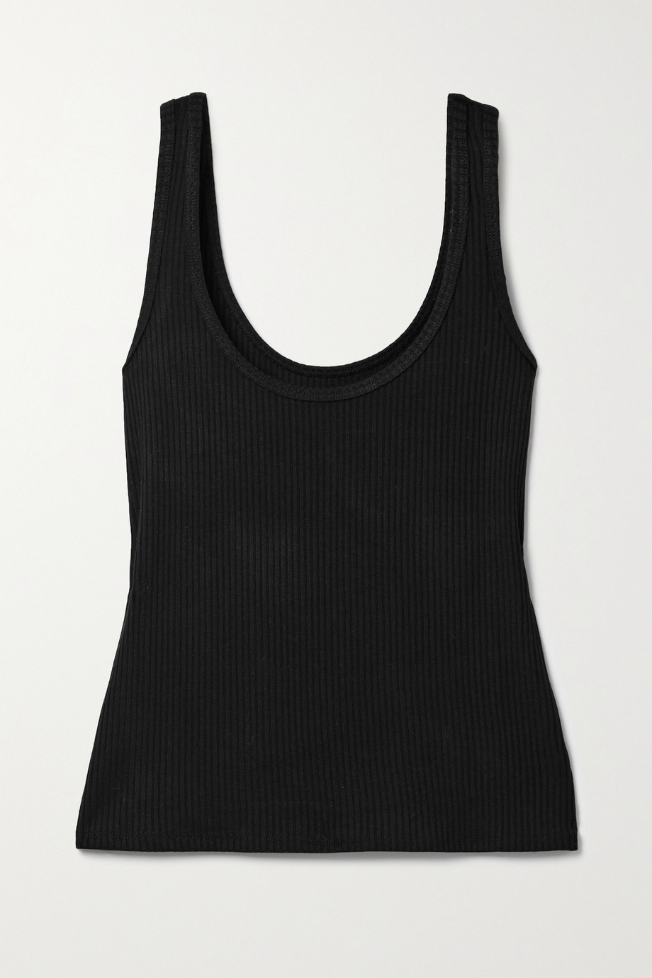 L'AGENCE Iman ribbed stretch-modal tank