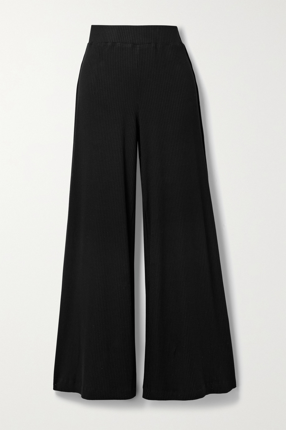 L'AGENCE Crawford ribbed stretch-modal wide-leg pants
