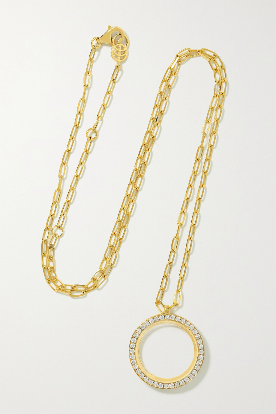 STATE PROPERTY George 18-karat gold, diamond and onyx necklace