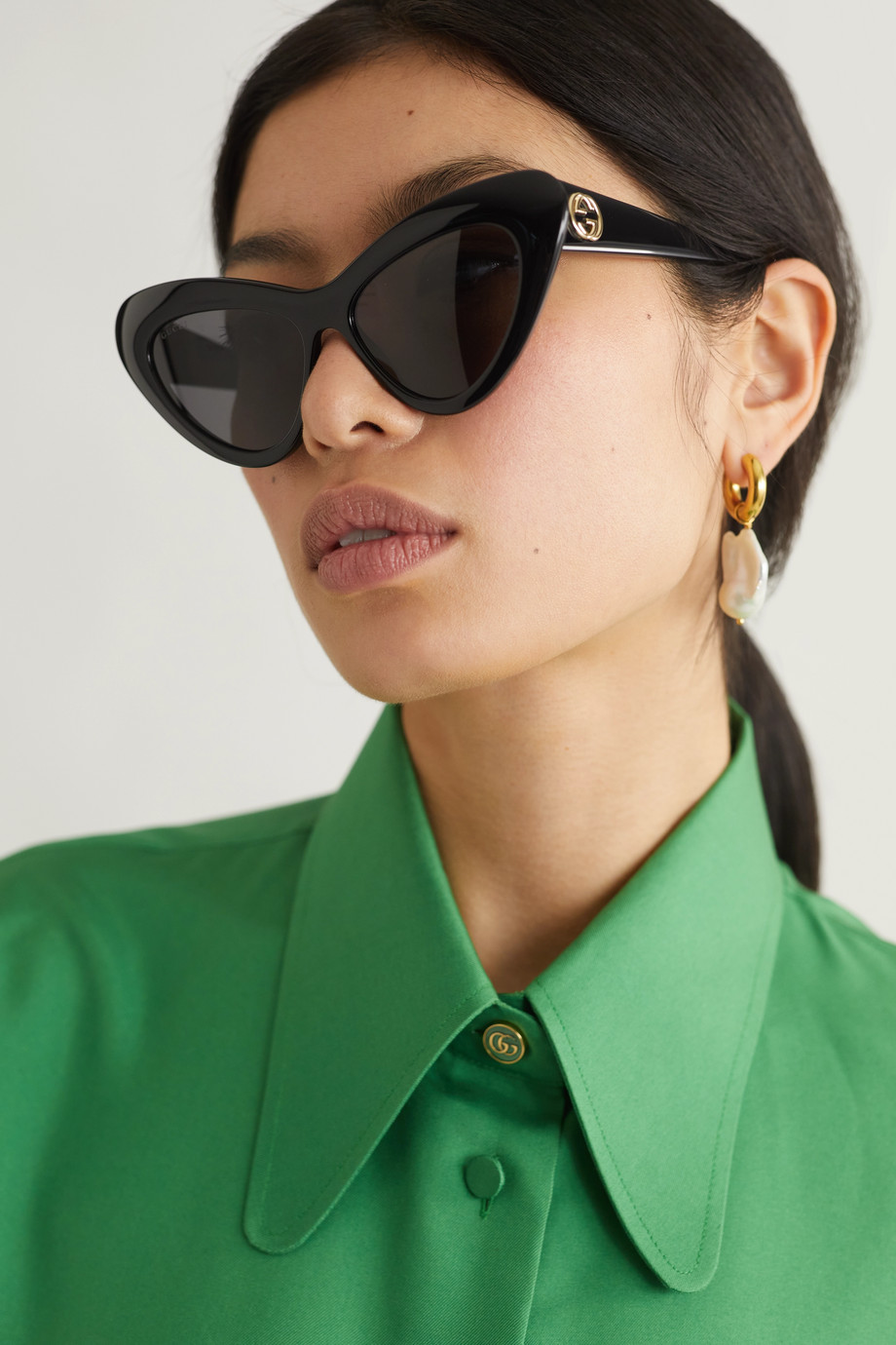 GUCCI Cat-eye acetate sunglasses