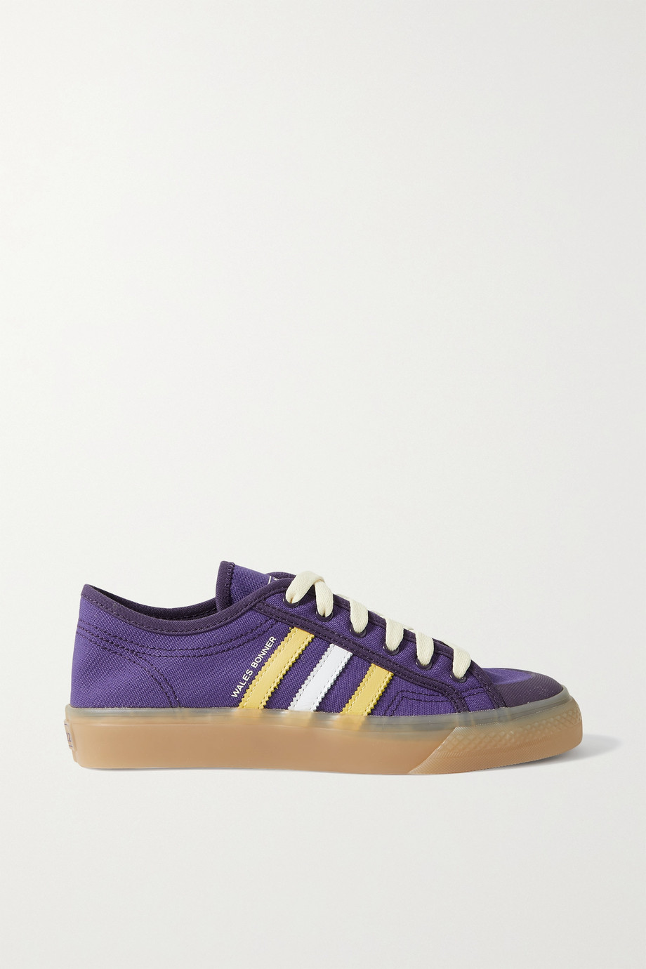 ADIDAS ORIGINALS + Wales Bonner Nizza leather-trimmed canvas sneakers