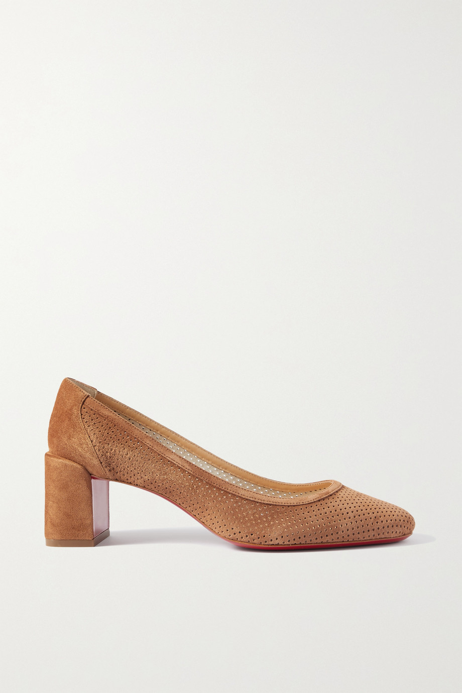 CHRISTIAN LOUBOUTIN Incastrana 55 perforated suede pumps