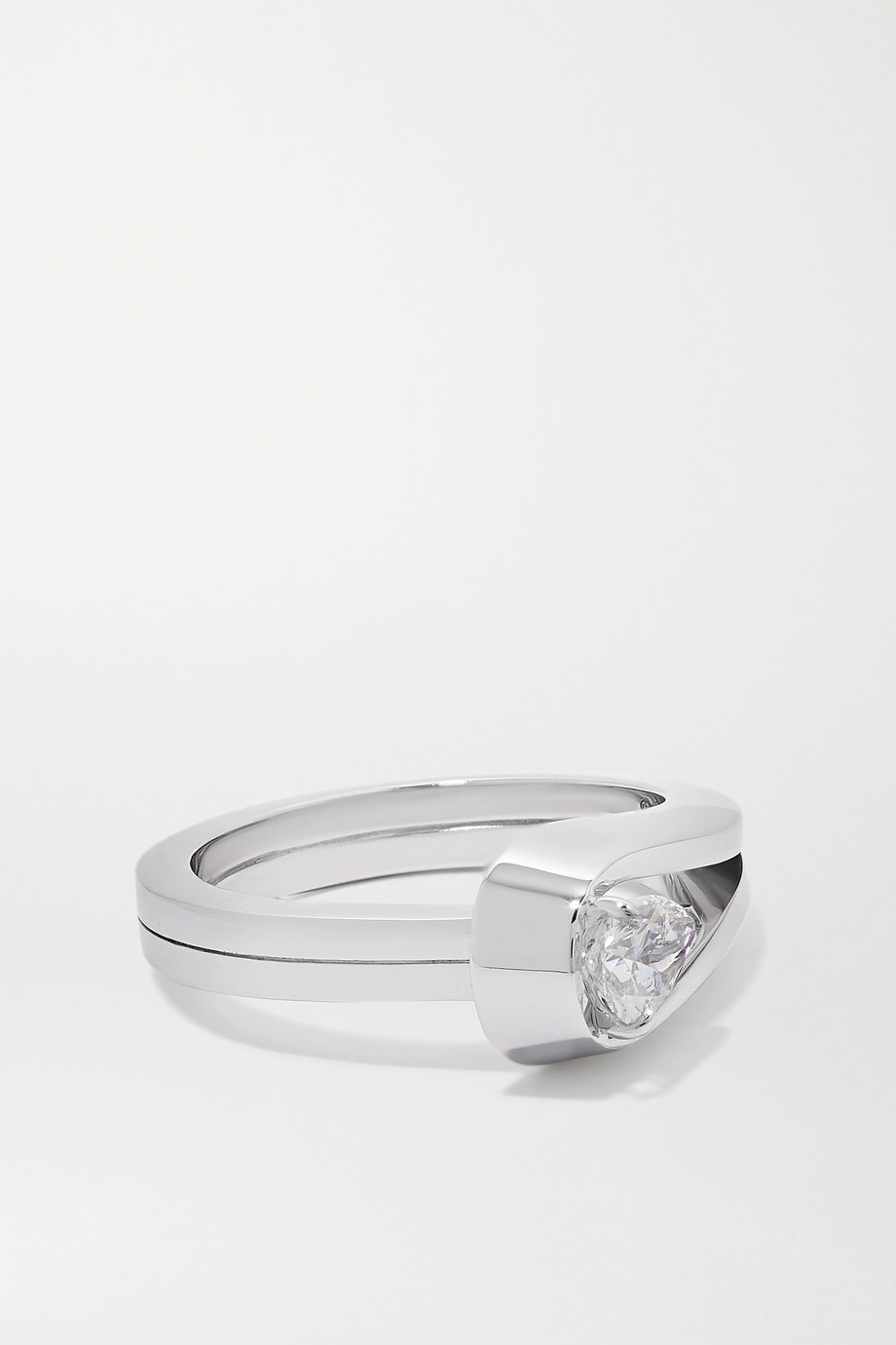 REPOSSI Serti Inversé 18-karat white gold diamond ring
