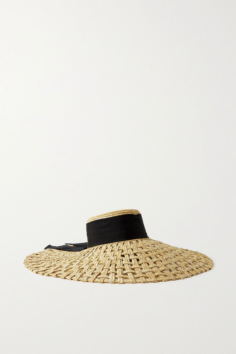 EUGENIA KIM Mirabel grosgrain-trimmed woven straw hat