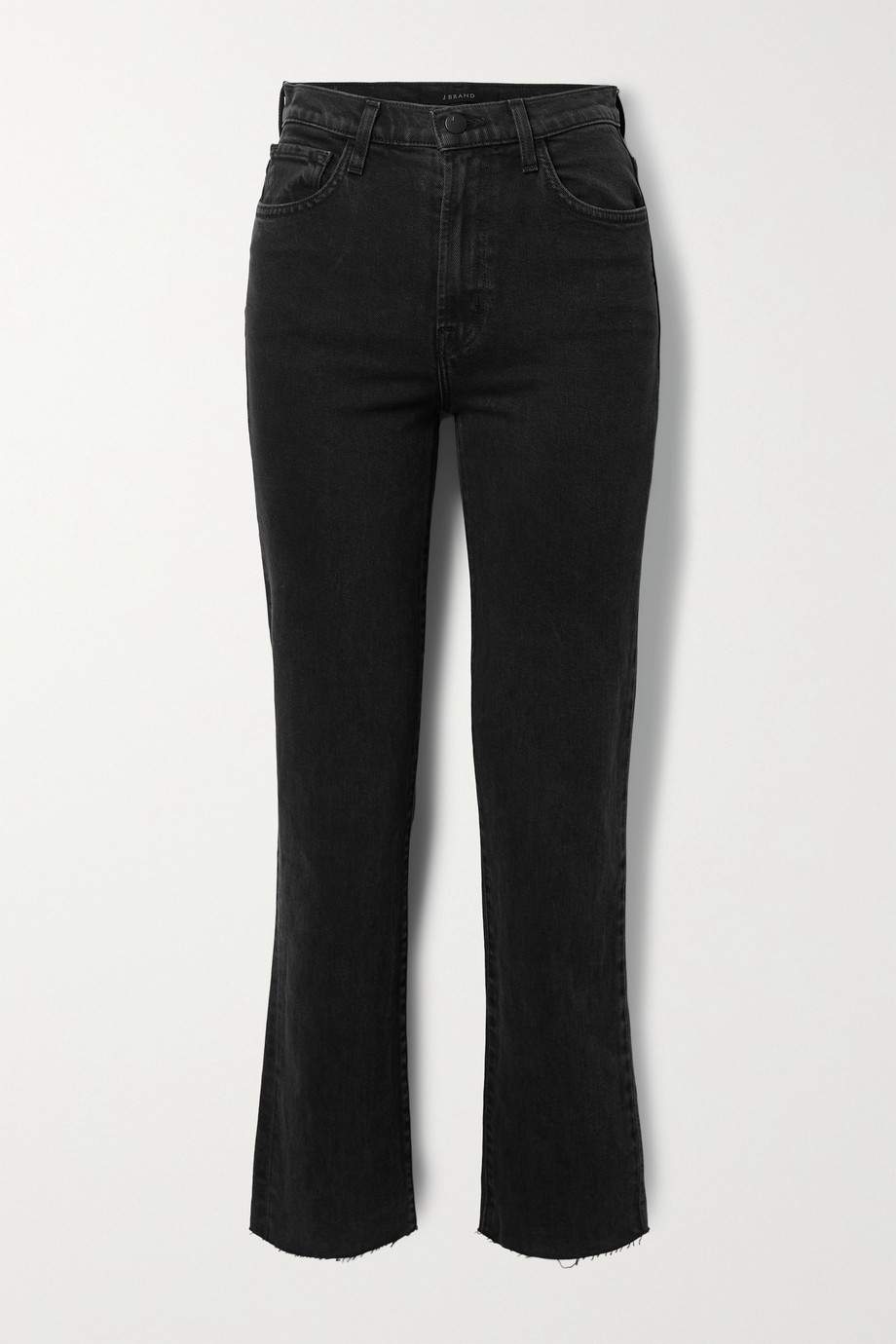 J BRAND Jules distressed high-rise straight-leg jeans