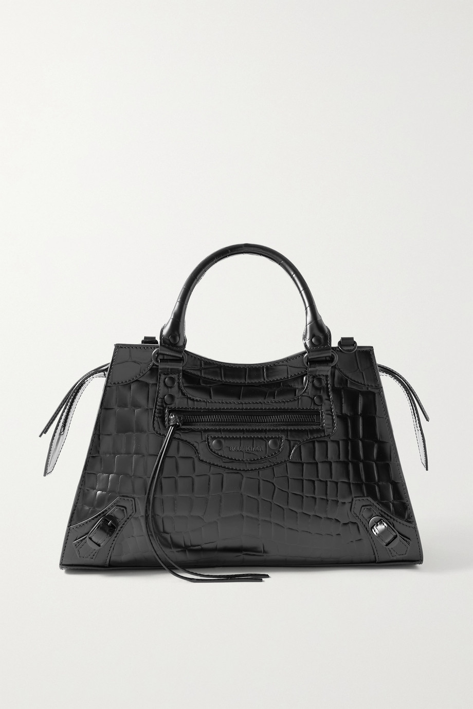 BALENCIAGA Neo Classic City small croc-effect leather tote