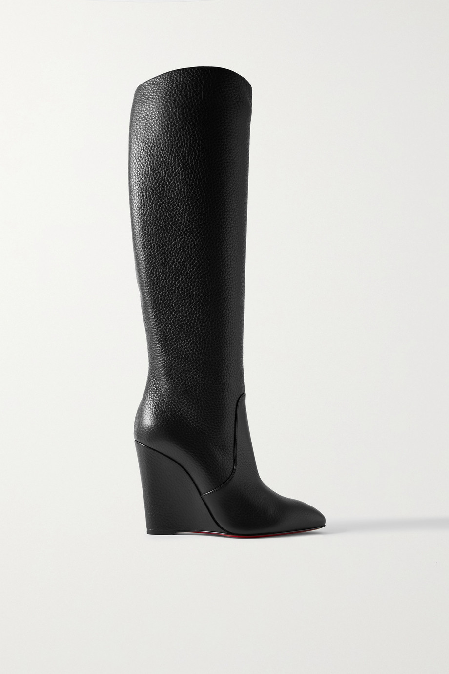 CHRISTIAN LOUBOUTIN Civiliza 100 textured-leather knee boots