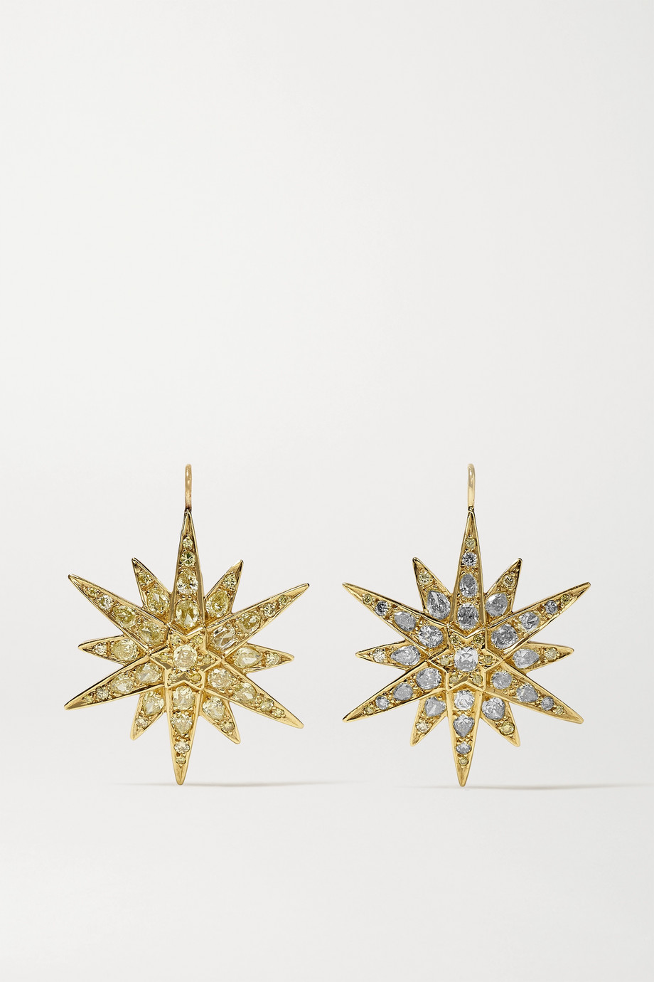 FRED LEIGHTON Collection 18-karat gold diamond earrings