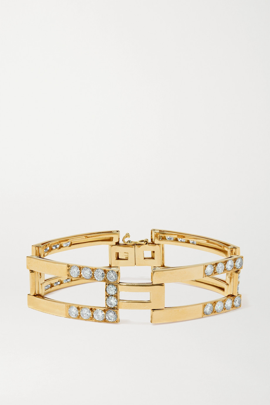 FRED LEIGHTON 1970s 18-karat gold diamond bracelet