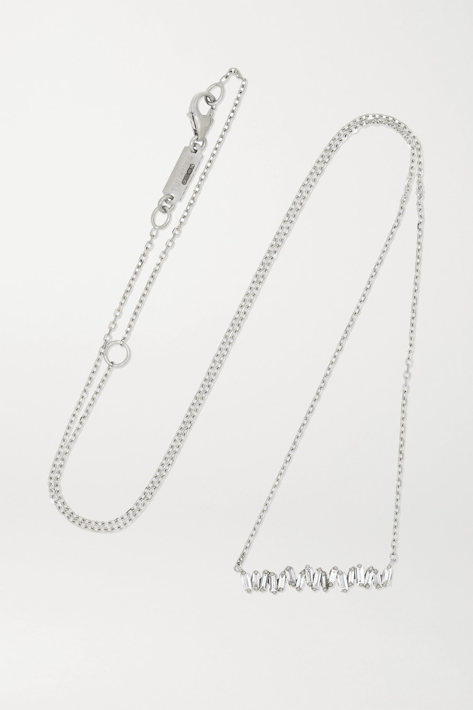 SUZANNE KALAN 18-karat white gold diamond necklace