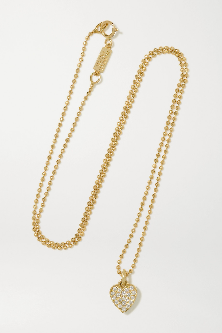 JENNIFER MEYER Heart 18-karat gold diamond necklace